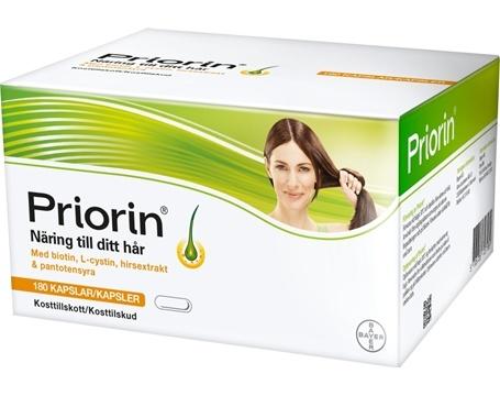 tappa håret priorin